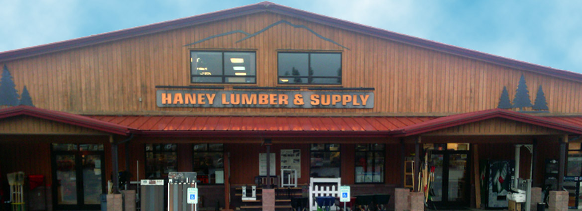Haney Lumber outside